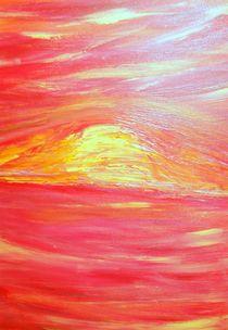Sonnenuntergang in rot by Sylvia W.