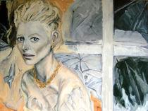 Frau im Fenster von Dagmar Herrmann