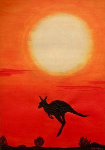Kangeroo at sunset by isarts