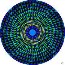 Rosette blau grün von Peter Ulrich