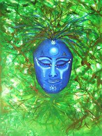Maske blau by Pia-Susann Roese