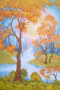 Bäume mit Fantasiefelsen von kbutt
