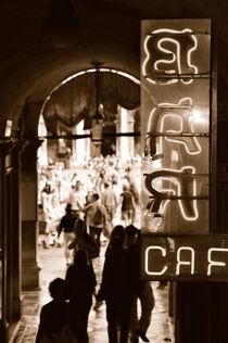 Bar Cafe in Venedig am Markusplatz (Sepia) von Doris Krüger
