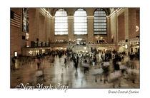 New York City Grand Central Station mit Schriftzug by Doris Krüger