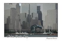 New York City Financial District mit Schriftzug von Doris Krüger