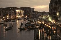 Venedig Canal Grande Abendstimmung by Doris Krüger