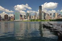 Skyline von New York City mit UN-Gebäude by Doris Krüger