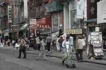 Straßenszene in Chinatown, New York City von Doris Krüger