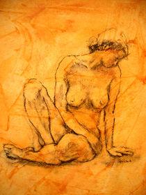 Sitzender weiblicher Akt von alfons niex