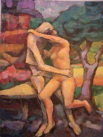 Kuss in Paris by alfons niex