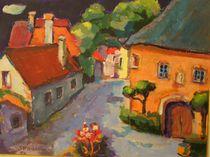 Dorfplatz im Burgenland  von alfons niex