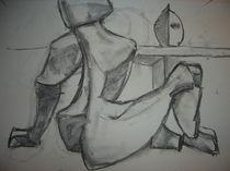 Sitzender Akt Entwurf für   Der Maler und das Mode von alfons niex