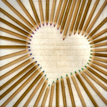 Pencil-Heart by Michael S. Schwarzer