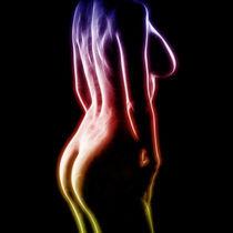 Erotisches Farbenspiel auf Schwarz by Michael S. Schwarzer