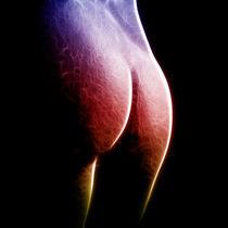 Erotisches Farbenspiel auf Schwarz von Michael S. Schwarzer