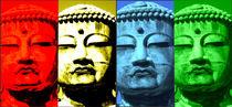Buddha-Collage 1 von Ina Hartges