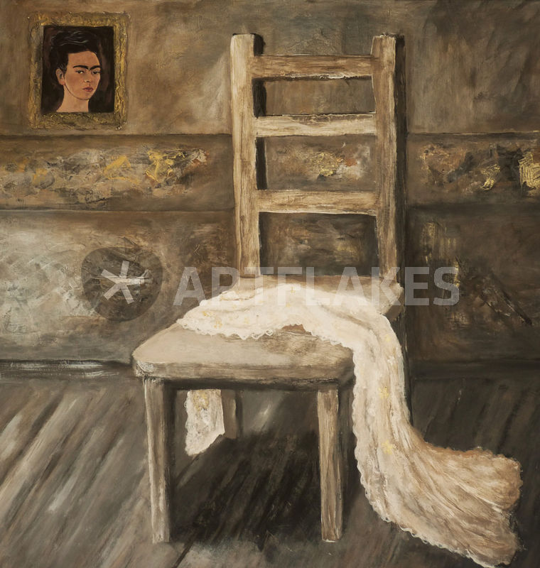 hommage an frida kahlo kunstdruck von christine lamade. Black Bedroom Furniture Sets. Home Design Ideas