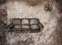 Sofa im Kornfeld von Christine Lamade