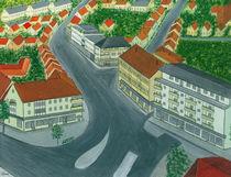 Paderborn - Hatzfelderstraße mit Geschäftsvierteln by staebe