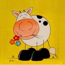 Kuh mit Blumen von elen