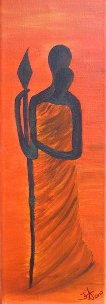 Massai Paar by Ines Schmelzer