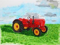Trecker in der Landwirtschaft - Tractor on farming von ropo13