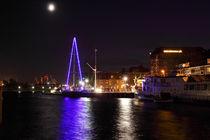Vollmond im Alten Binnenhafen - Full moon in the old river port by ropo13