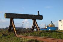 Prellbock an der Hafenausfahrt von ropo13