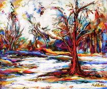 Winterlandschaft III by Ria den Breejen