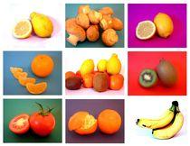 Obst und Gemüse in Pop-Art by Wildis Streng