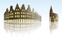 Münster NRW, Germany illustriert by Ralph Ludwig