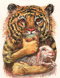 Tiger und Schaf von Rainer Ehrt