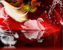 sommernacht in rot von nora gharbi