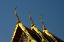 Three Chofahs on a Temple in Bangkok von safaribears