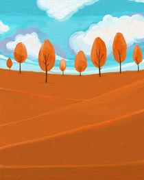 Orange Landscape by raziel