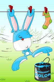 Hase Lui und die blaue Farbdose von Michaela Heimlich