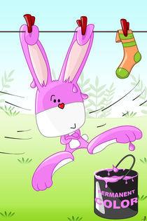 Hase Lui und die pinke Farbdose von Michaela Heimlich