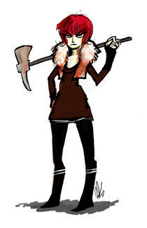 Katarina With Axe by Katie Foster