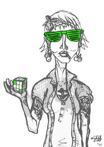 'hipsters like rubix cubes' by Sarah Haskins