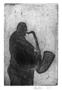 Saxophonist von Amador Vallina