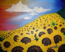 Sonnenblumenfeld von Edmond Marinkovic