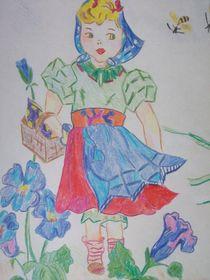 Blumenmädchen von Anett Lehmann