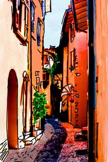 Gasse in Malcesine by Andrea Meyer