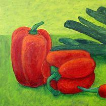 Stilleben mit Gemüse Triptychon Teil 1 - Paprika von Andrea Meyer
