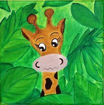 Kinderzimmer-Dschungelserie Giraffe by Petra Koob