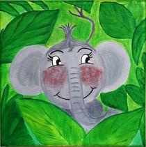Kinderzimmer-Dschungelserie Elefant