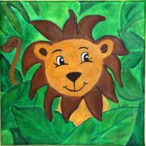 Kinderzimmer-Dschungelserie Löwe