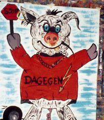 Der innere Schweinehund Gemälde von Beatrice Mock