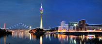 Typisch Düsseldorf - Fraktal von Städtecollagen Lehmann