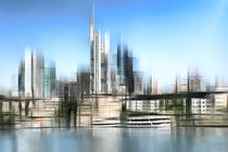 Skyline Frankfurt  by Städtecollagen Lehmann